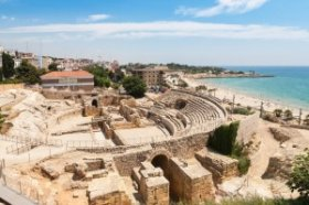 Historical amphitheater of Tarragona, Costa Dorada.